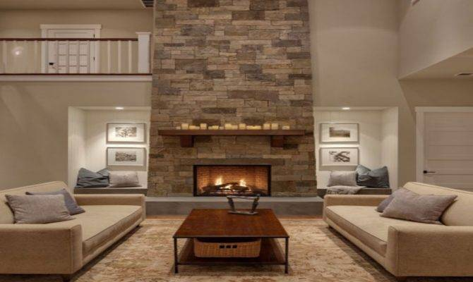 Tall Sofa Beautiful Great Rooms Fireplaces