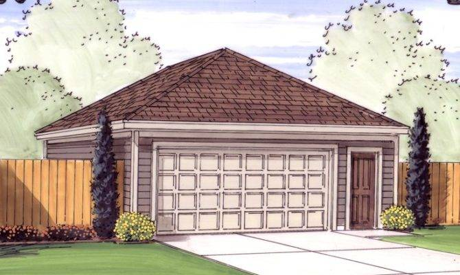 Tandem Garage Plans Plan Hip Roof