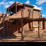 Taos Pueblo Adobe House Ladder
