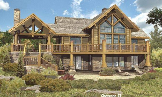 Targhee Log Cabin Home Rustic Luxury Cabins Plans