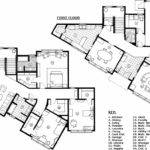 Technical Drawing Modern Home Floor Plan Space Ink