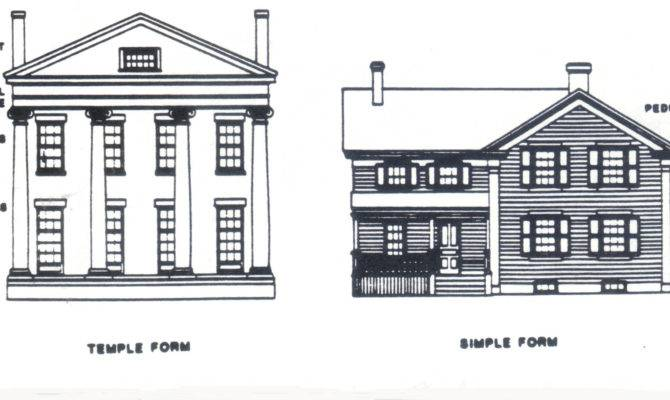 Temple Simple Form Greek Revival