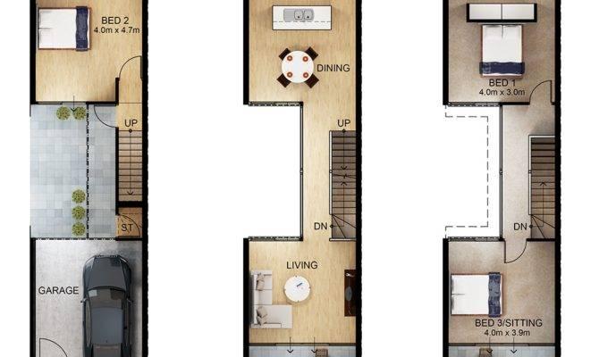 Terraced House Plans Floor