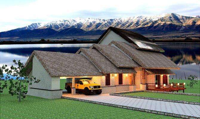 Thatch Roof House Floor Plan