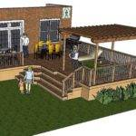 Thes Deck Plan Very Large Shaped Pergola Over