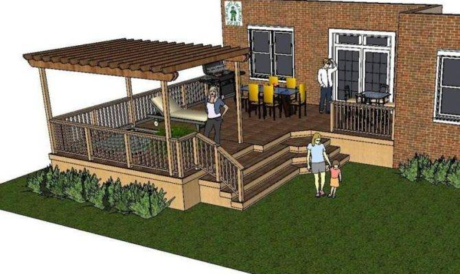 Thes Deck Plan Very Large Shaped Pergola