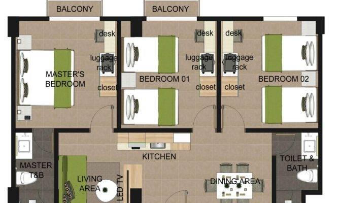 Three Bedroom Apartment Suites Azalea Boracay