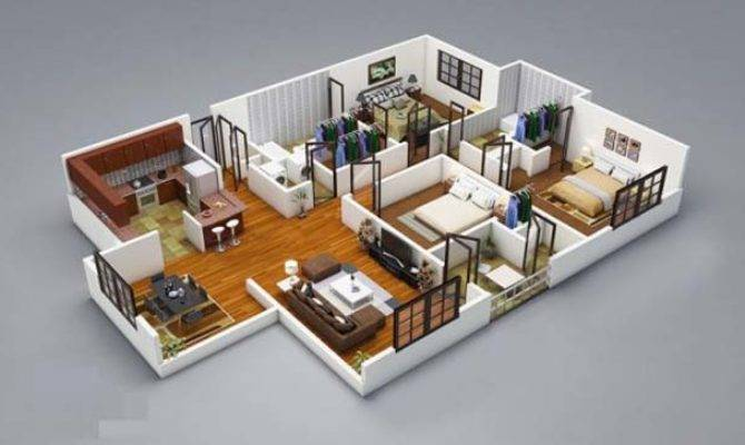 Three Bedroom House Floor Plans