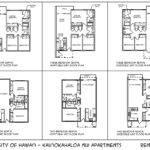 Three Bedroom Rental Standard Unit Floor Plan Rosieherman