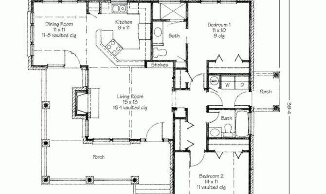 Three Bedroom Split Ranch House Plan Car Garage