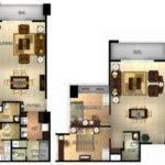 Three Central Bedroom Unit Floor Plan