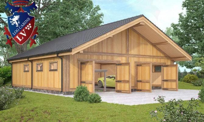 Timber Frame Laminated Garages Logcabins Log Cabins Blog