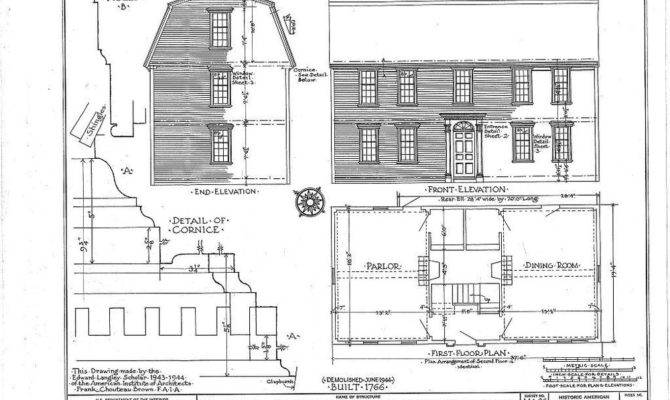 Timber Framed Gambrel Roof Colonial Home Plans Historic