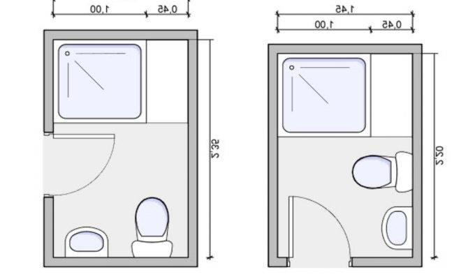 Tiny Bathroom Plans Small Floor Fascinating