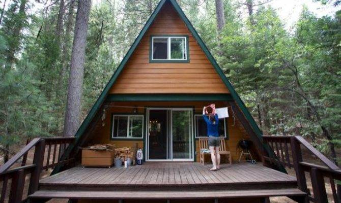 Tiny Frame Cabin Woods
