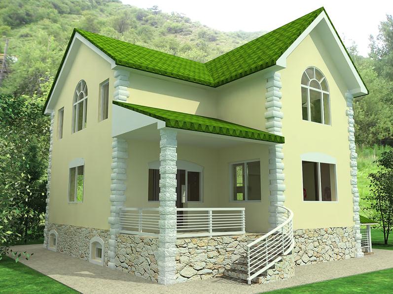 Tiny House Design Ideas Dominant Color Green Paint Home Plans Blueprints 131785