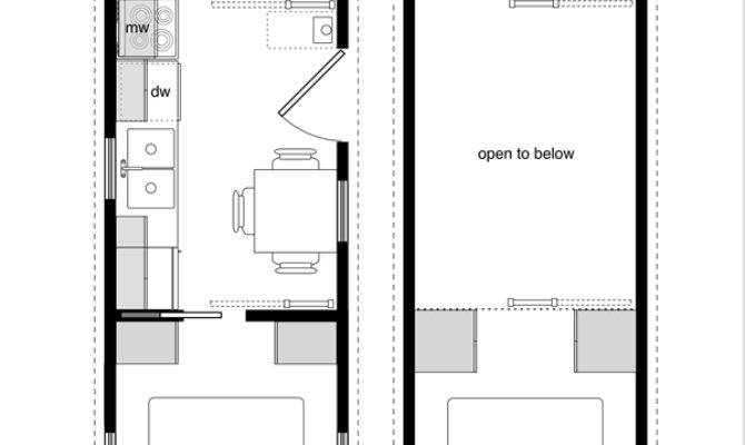 Tiny House Floor Plans Lower Level Beds