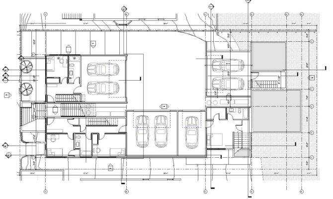 Townhouse Floor Plans Garage Level Plan