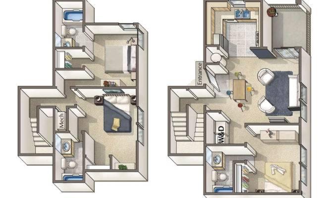 Townhouse Floor Plans Garage Plan