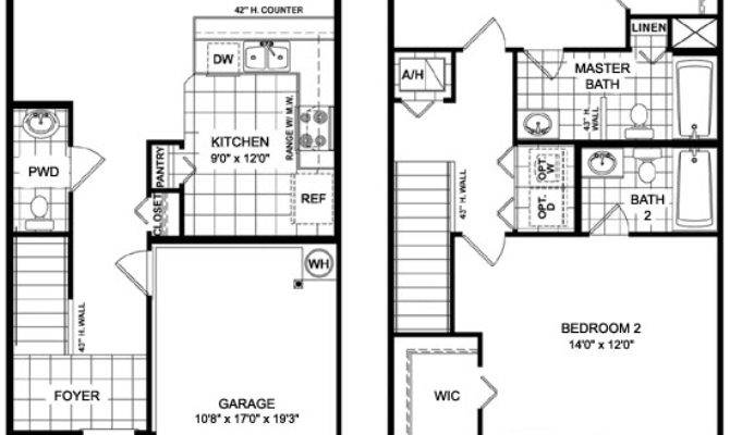 Townhouse Floor Plans Garage Researchpaperhouse