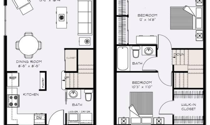 Townhouse Plans Narrow Furthermore Bedroom Floor