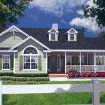 Traditional Country Style House Plan Large Wrap Around Porch