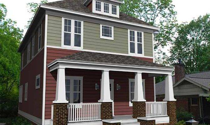 Traditional Four Square House Plan Floor