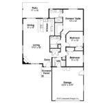 Traditional House Plan Alden Floor