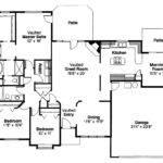 Traditional House Plan Cottonwood Floor