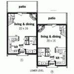 Traditional House Plan Duplex Home Fits Narrow Lot