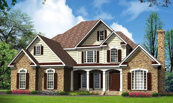 Traditional House Plans Luxurious Two Story