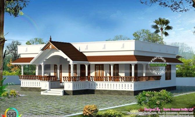 Traditional Single Floor Home Kerala Design