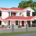 Traditional Sloped Roof House Kerala Home Design