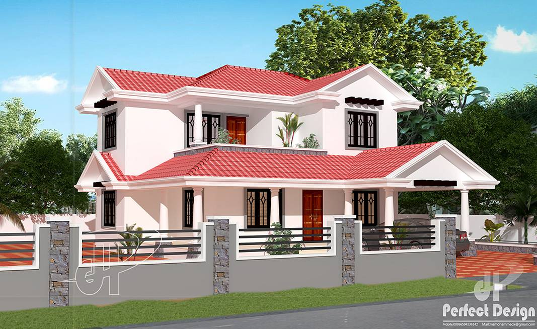 Traditional Sloped Roof House Kerala Home Design Home Plans Blueprints 47256
