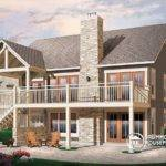 Transitionl Style Cottage House Plan Cathedral Ceilings Fireplace