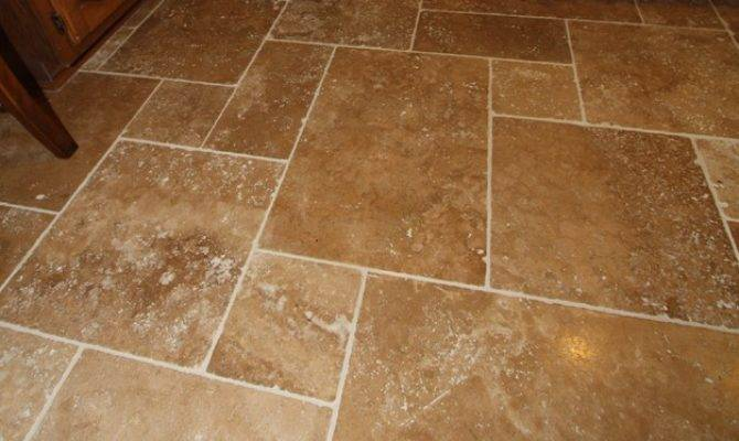 Travertine Tile Floor Mediterranean Wall