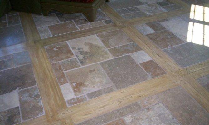 Travertine Tile Mediterranean Wall Floor