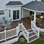 Trex Deck Hip Roof Grill Bump Out Courtyards Patios Decks