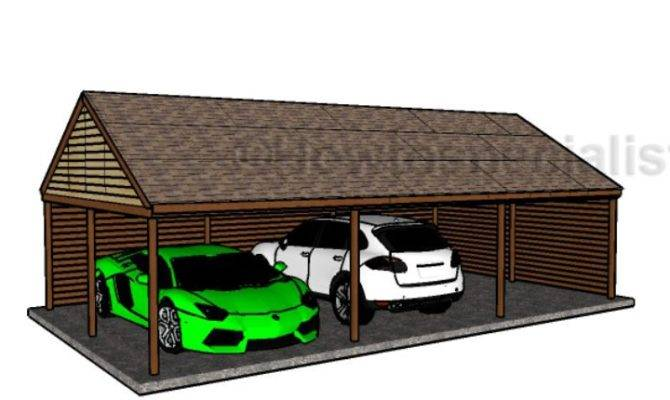 Triple Carport Plans Howtospecialist Build