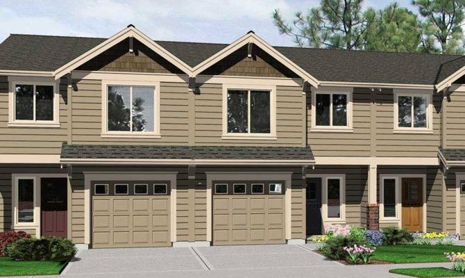 Triplex House Plans Plex Quadplex