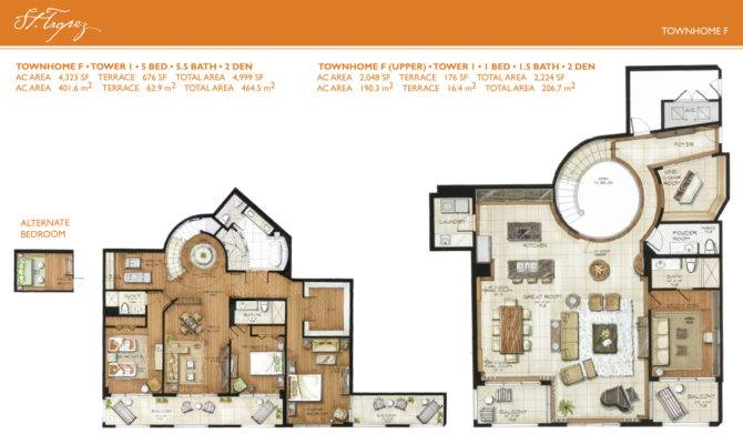 Tropez Townhome Floorplans