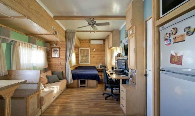 Truck Transformed Into Amazing Green Mobile Home Joseph