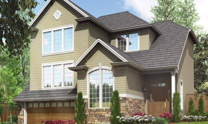 Tuck Under Garage House Plans