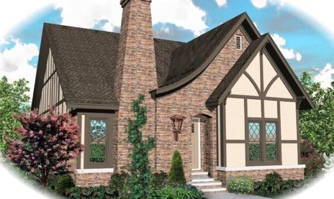 Tudor House Plan Front Home Plans More