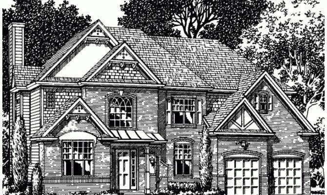 Tudor House Plan Square Feet Bedrooms Dream Home