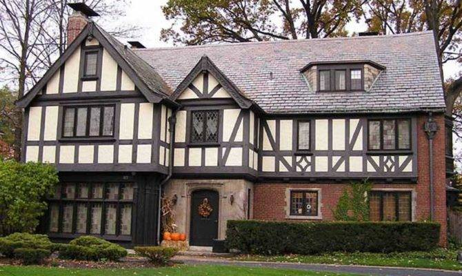 Tudor Style Homes Red Brick Wall Ideas Black