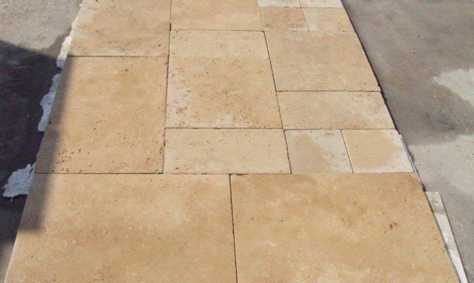 Tumbled Light Travertine Mediterranean Wall Floor