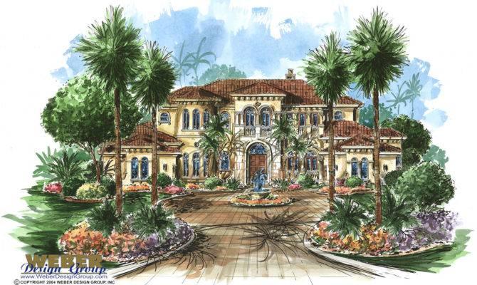 Tuscan Home Plan Tuscany Weber Design Group