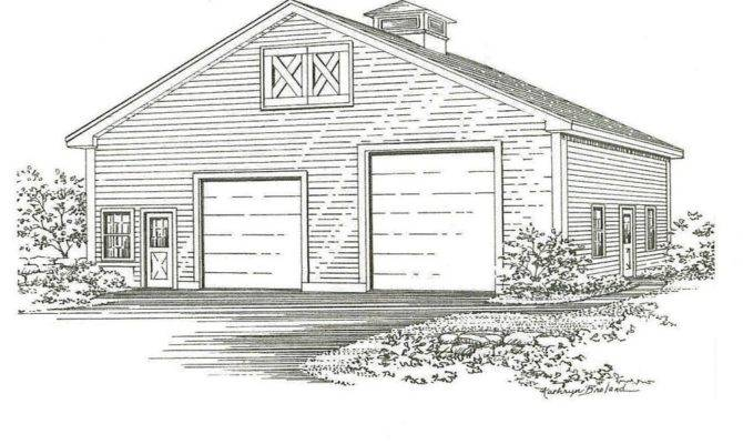 Two Bay Garage Building Blueprint Plans Ebay