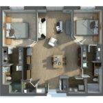 Two Bedroom Apartment House Plans Architecture
